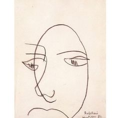 Portrait de Rabelais, Matisse (1951) #drawing #matisse #Inspiration
