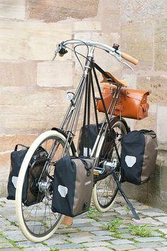 Panniers and saddle bag