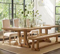 Stafford Reclaimed Pine Extending Dining Table #potterybarn