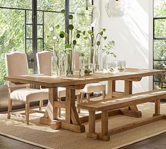 Stafford Reclaimed Pine Extending Dining Table #potterybarn