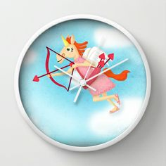 Cupid Unicorn V02 Wall Clock