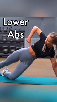 Lower abs workout for women. Lower abs workout at home. Credit: IG ashleigh - 50 - Lower abs workout for women. Lower abs workout at home. Abs Workout Video, Gym Workout Tips, Ab Workout At Home, Traps Workout, Oblique Workout, Ab Workout With Weights, Exercise Videos, Abs Workout Routines, Nike Workout