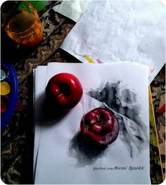 #apple #art #drawing #painting #howto #tutorial #amazing #3d #ralistic #cool #noemisparkle #youtube #tutorials #fruits #eat #kitchen #food #good