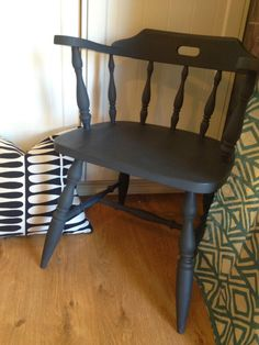 Drip Designs Furniture: Stunning Captains Chair Pair In Graphite!