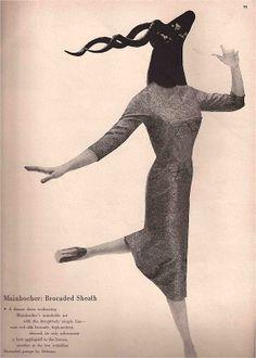 Harpers Bazaar December 1957 Editorials-Ads