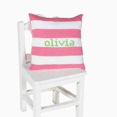 Another great pillow for a baby or child's room.  Comes in many colors and can be personalized with the child's name.  $65.00 at Out of the Box/