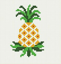 CROSS STITCH: pineapple