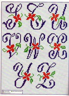 Brilliant Cross Stitch Embroidery Tips Ideas. Mesmerizing Cross Stitch Embroidery Tips Ideas. Embroidery Alphabet, Embroidery Monogram, Diy Embroidery, Cross Stitch Embroidery, Embroidery Patterns, Stitch Patterns, Small Cross Stitch, Cross Stitch Letters, Cross Stitch Cards