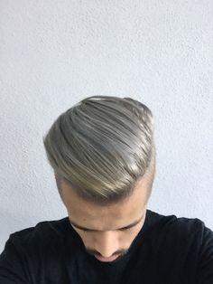 Men's Hair, Platinum, Mother of Pearl bleached hair
