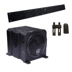 "Wet Sounds Package - Black Stealth 10 Ultra HD Sound Bar w/ Remote and AS-6 6"""" 250 Watt Powered Stealth Subwoofer"