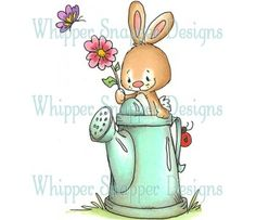 Whipper Snapper~ Bunny with Watering Can