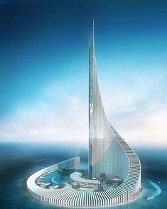 [New] The 10 Best Home Decor (with Pictures) - Concept tower By nicolas richelet Architecture Unique, Futuristic Architecture, Concept Architecture, Unusual Buildings, Amazing Buildings, Foto Fantasy, Future Buildings, Futuristic City, Building Design