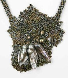 Through the French eye of design: BEADWORK part II.  THIS IS A FREEFORM FOCAL PIECE BY TINA KOYAMA - CURLEYTOP1.