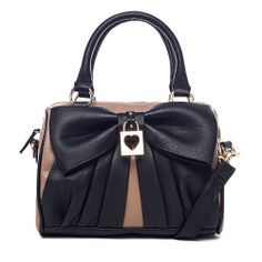 Betsey Johnson Bow Lock Speedy Satchel from LittleBlackBag