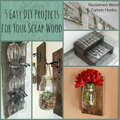5 easy DIY projects for your extra wood that is lying around. Make use of it for lanterns, stools, or even a wine glass holder! All of these are projects you can make in an afternoon!