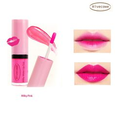 Rivecowe Milky Water Lip Tint Gloss Lipstick Makeup Milky Pink Cosmetics Korea  #Rivecowe