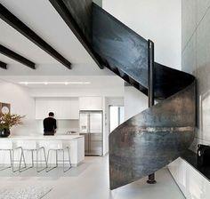 Iron straircase.