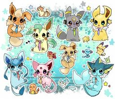 Super Cute Eevee Evolution dressed up as Vocaloid and other cute, tiny Pokemon My Favorite is Jolteon Umbreon And Espeon, Pokemon Eeveelutions, Eevee Evolutions, All Pokemon, Cute Pokemon, Pokemon Chart, Pokemon Pins, Pokemon Images, Pokemon Pictures