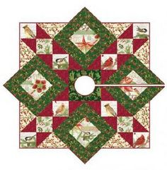 christmas tree skirt quilt | Free Quilt Pattern: Stars All Around ... : christmas tree skirt pattern quilt free - Adamdwight.com
