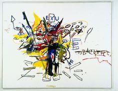Jean Michel Basquiat at Guggenheim Museum Bilbao ( Detail From Painting ) Basquiat Artist, Jm Basquiat, Jean Michel Basquiat Art, Basquiat Paintings, Oil Paintings, Graffiti Art, Musée Guggenheim Bilbao, Radiant Child, Art Gallery Of Ontario