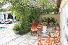 Tropical pergolas and private patios for relaxing comfort
