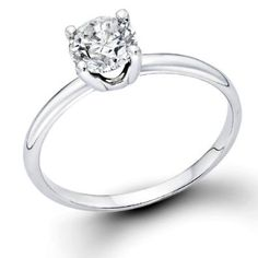 1/2 ctw. Round Diamond Solitaire Engagement Ring in 14k White Gold   Be the first to review this item | Like   (0)  Suggested Price:$2,798.00  Price:$1,473.00   Sale:$599.00   You Save:$2,199.00 (78%)