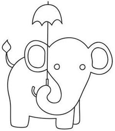 11 best Cute Baby Elephant Coloring Pages images on