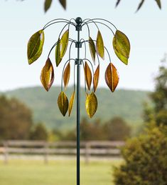 Hanging Leaves Wind Spinner | Wind Spinners
