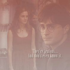 20. They're jealous... And don't even know it. | 101 reasons to ship Harry and Hermione.