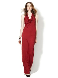 Kinetic Racerback Cowl Neck Dress by Helmut Lang on Gilt.com
