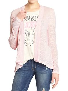 Women's Open-Front Sweater-Knit Cardigans Product Image