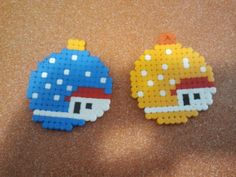 Christmas baubles hama beads by Andres Moreno Rodriguez