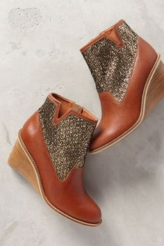 Oooo I think I need these!   Schuler & Sons Wedge Booties - anthropologie.com