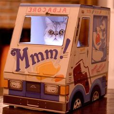 PetsLady's Pick: Funny Kitty Ice Cream Truck Of The Day...see more at PetsLady.com -The FUN site for Animal Lovers