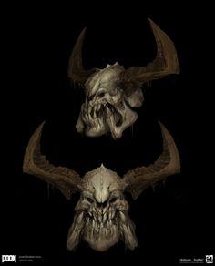 ArtStation - DOOM - Giant Demon Skulls, Emerson Tung