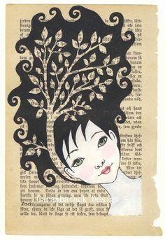 Tree Girl. $25.00, via Etsy.