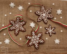 gingerbread christmas snowflakes 5