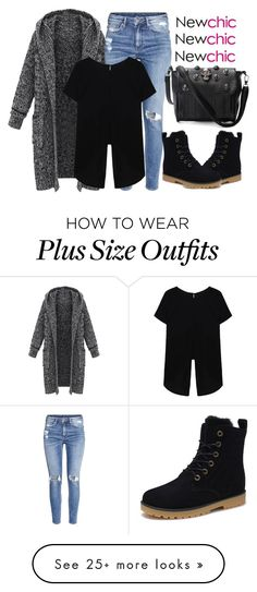 """""""Hood Knit Cardigan by NewChic"""" by snjezanamilovanovic233 on Polyvore featuring H&M"""