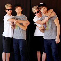 One Direction Louis Tomlinson and Niall Horan Nouis 1D