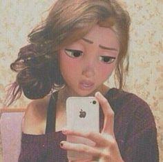 Hi I'm Rapunzel. I'm My best friends are Elsa and Anna. Disney Rapunzel, Rapunzel Edits, Disney Punk, Disney Art, Modern Day Disney, Disney Love, Disney Adoption, Princesas Disney Dark, Princesse Disney Swag