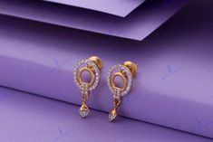 Diamond Earrings Indian, Gold Bridal Earrings, Fancy Earrings, Small Earrings, Ruby Earrings, Hoop Earrings, Earrings Photo, Gold Ring Designs, Gold Earrings Designs