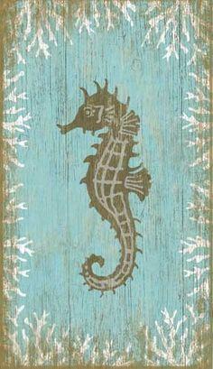 Vintage Seahorse Facing Left Sign: Custom Vintage Signs