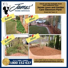 Well done James' Lawn and Garden Care Glenmore Park! What a difference a little cleanup has made!