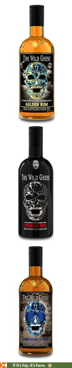 Wild Geese Rums with their faceted skull labels.