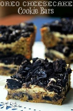 DIY Oreo Cheesecake Cookie Bars Cheesecake Recipes