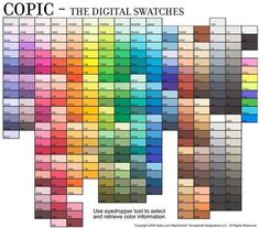 Copic Digital Swatches