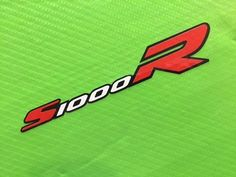 S1000R with outline logo decals Sticker for Race, Track Bike or Toolbox ref #133