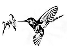 Hummingbird tattoo idea - tribal art focus
