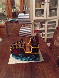 Pirate ship cake dawnbakescakes.com Cumming, Ga