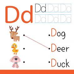 Worksheet Vector Design For Kid, Letters For Kids, Alphabet For Kids, Alphabet Activities, Penguin Drawing, Giraffe Drawing, Animal Worksheets, Worksheets For Kids, Butterfly Games, Activity Games For Kids